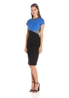 Anne Klein Women's Color Block Side Draped Dress