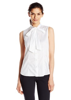 Anne Klein Women's Cotton Bow Blouse