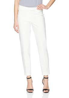 Anne Klein Women's Cotton Double Weave Slim Pant