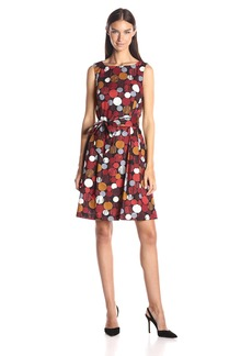Anne Klein Women's Cotton Lawn Printed Fit and Flare
