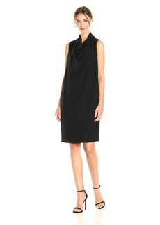 Anne Klein Women's Cowl Neck Sheath Dress  L