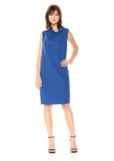 Anne Klein Women's Cowl Neck Sheath Dress  M
