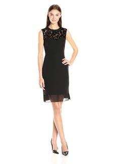 Anne Klein Women's Creoe Lace Combo Sleeveless Dress