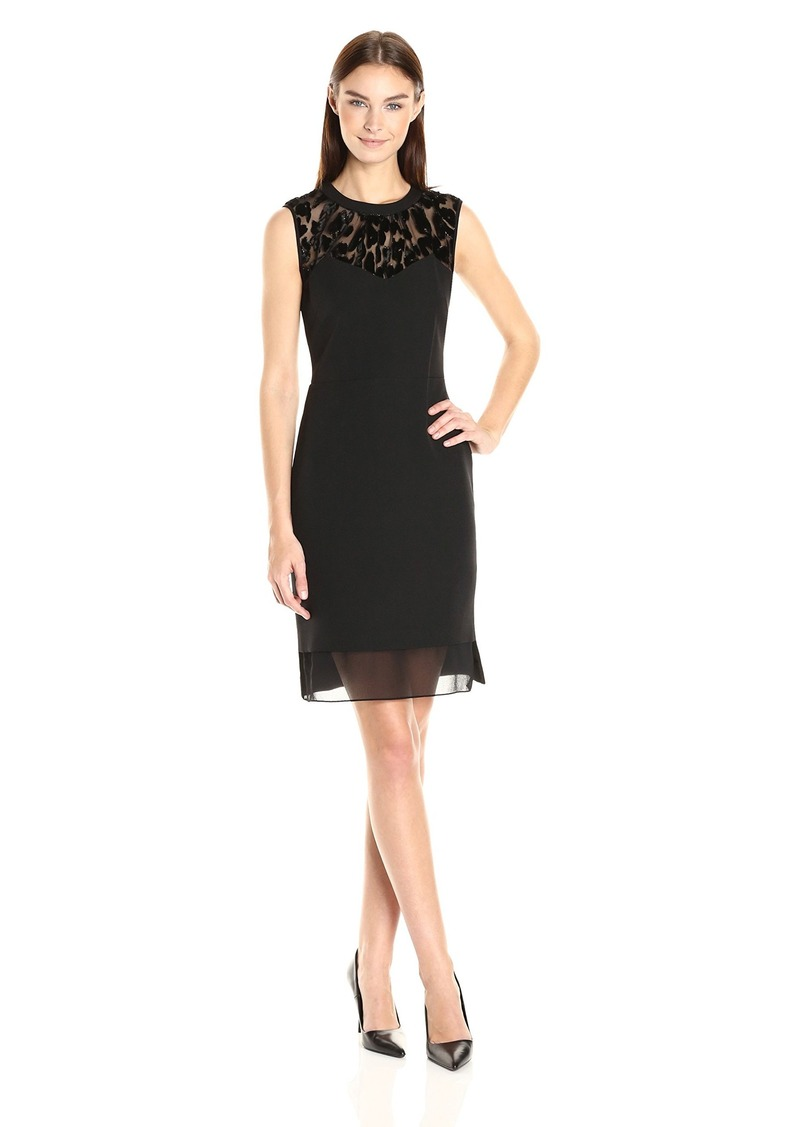 Anne Klein Women's Creoe Lace Combo Sleeveless Dress