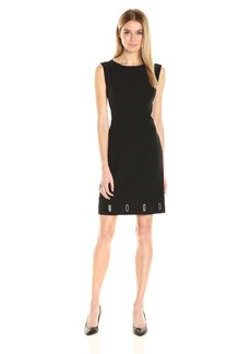 Anne Klein Women's Crepe Eyelet Shift Dress