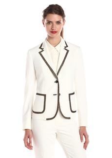 Anne Klein Women's Crepe Gold Trim Jacket