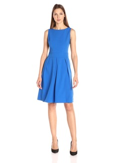 Anne Klein Women's Crepe Inverted Pleat Fit and Flare