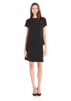 Anne Klein Women's Crepe Popover Short Sleeve Dress