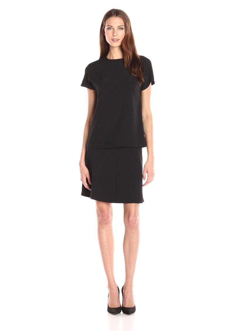 8eb32d8f Anne Klein Anne Klein Women's Crepe Popover Short Sleeve Dress | Dresses