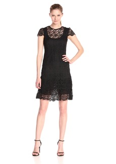 Anne Klein Women's Crochet Lace Tiered Dress
