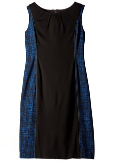 Anne Klein Women's Crosshatch Jacquard Mixed Media Dress