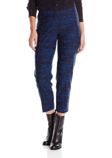 Anne Klein Women's Crosshatch Slim Pant