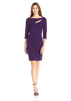 Anne Klein Women's Cut Out Front Detail Sheath Dress