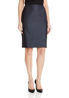 Anne Klein Women's Denim Skirt