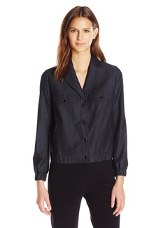 Anne Klein Women's Denim Snap Front Jacket