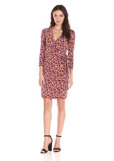 Anne Klein Women's Dot-Print Faux-Wrap Dress