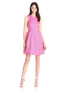 Anne Klein Women's Dot Print Fit and Flare Dress