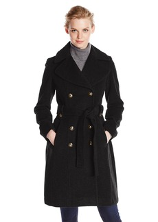 Anne Klein Women's Double Breasted Cashmere Wool Coat