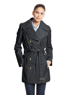 Anne Klein Women's Double Breasted Trench Coat  edium