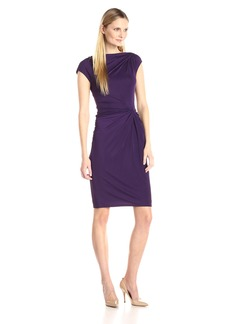 Anne Klein Women's Double Twist Front Sheath Dress