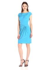 Anne Klein Women's Double Twist Solid Matte Jersey Dress