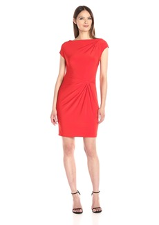 Anne Klein Women's Double Twist Solid Matte Jersey Dress