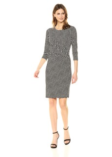 Anne Klein Women's Drape Front Dress