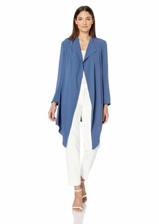 Anne Klein Women's Drape Front Long Jacket  L