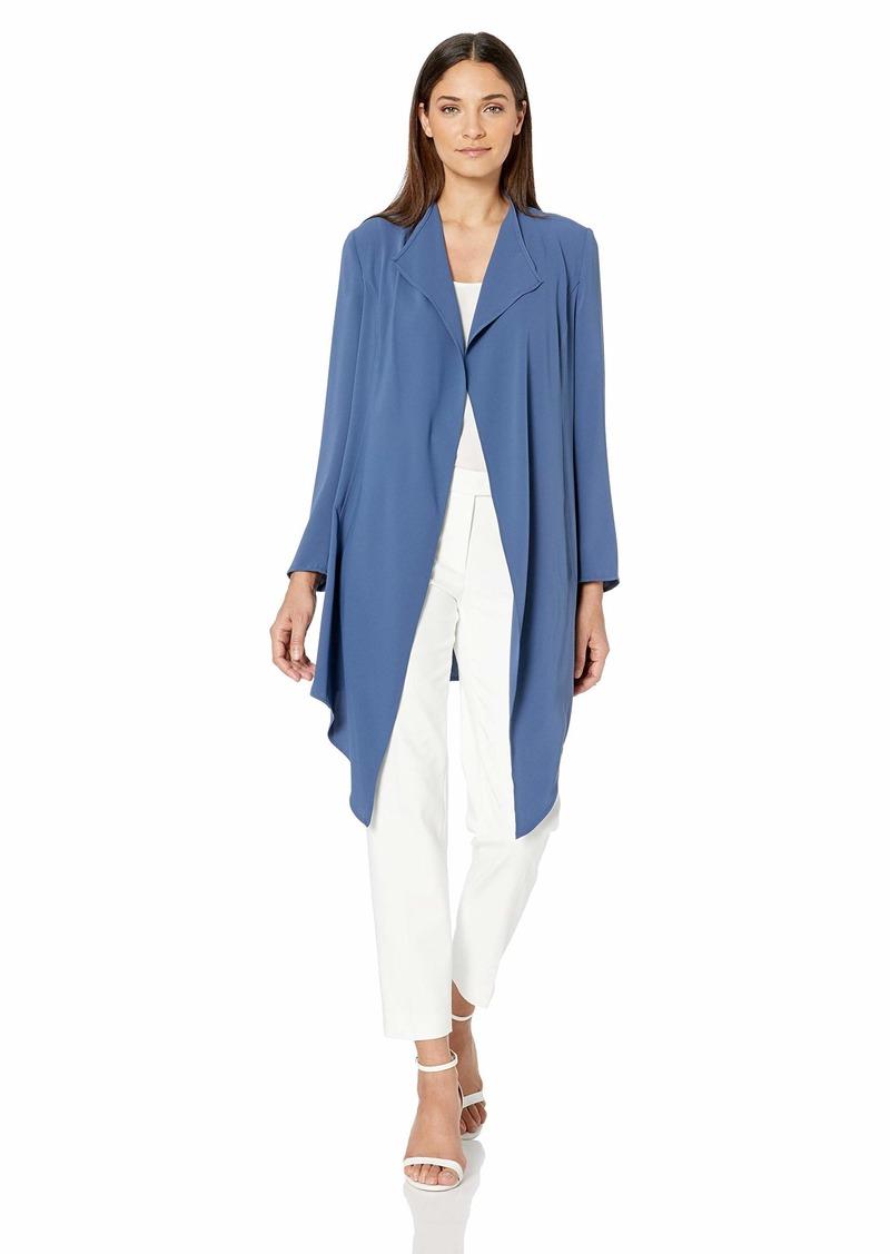 Anne Klein Women's Drape Front Long Jacket  L