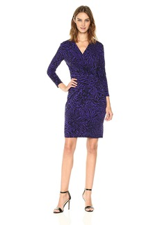 Anne Klein Women's Draped Dress-Printed Ity