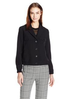 Anne Klein Women's Eisenhower Jacket with Snaps