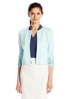Anne Klein Women's Embellished Sleeve Jacket