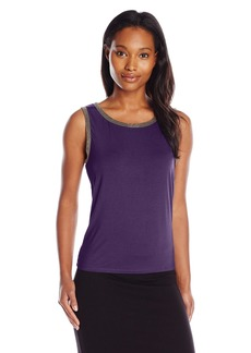 Anne Klein Women's Embellished Trim Tank