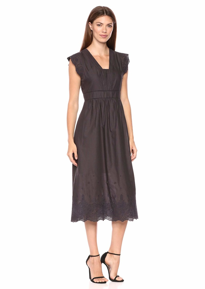 Anne Klein Women's Embroidered Cap Sleeve FIT & Flare Dress
