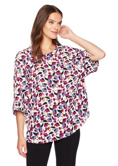 Anne Klein Women's Floral Printed Oversized Blouse  S