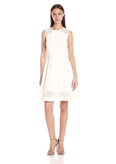 Anne Klein Women's Florence Str Lace Fit & Flare Dress