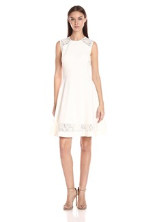 Anne Klein Women's Florence Str Lace Fit and Flare Dress