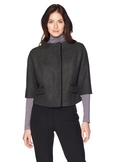 Anne Klein Women's Funnel Neck Cropped Jacket