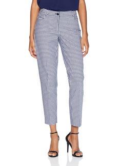 Anne Klein Women's Gingham Slim Pant