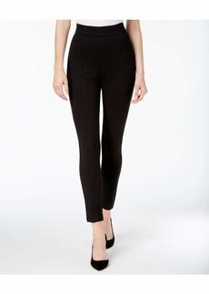 Anne Klein Women's Heather Pindot Compression Pant Black/BOLSHOI Grey
