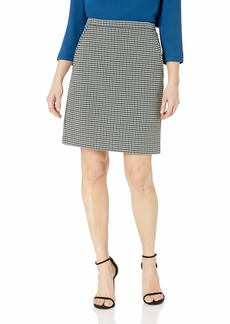 Anne Klein Women's Houndstooth Tweed Skirt fir Combo