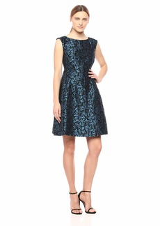 Anne Klein Women's Inverted Pleat FIT and Flare Dress