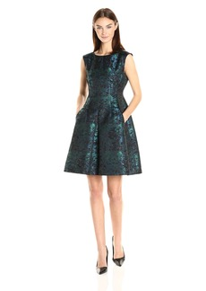 Anne Klein Women's Jacquard Seamed Fit and Flare