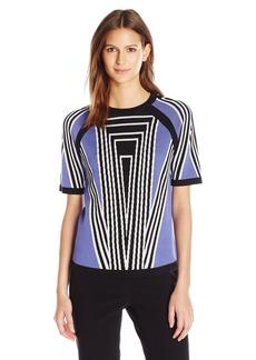 Anne Klein Women's Jacquard weater Top