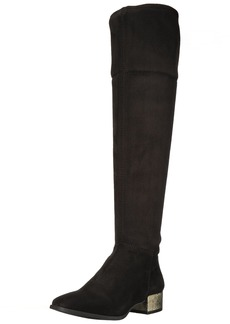 Anne Klein Women's Kimmie Fabric Fashion Boot Black
