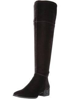 Anne Klein Women's Kimmie Velvet Fashion Boot Black