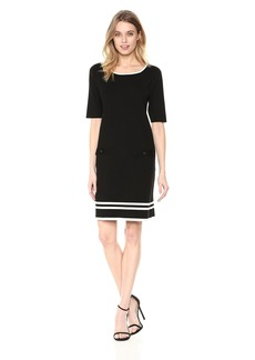 Anne Klein Women's Knit 2 Pocket Shift Dress  M