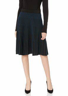 Anne Klein Women's Knit FIT and Flare Skirt  M