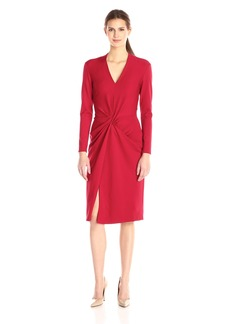 Anne Klein Women's Knit Twist Front Dress