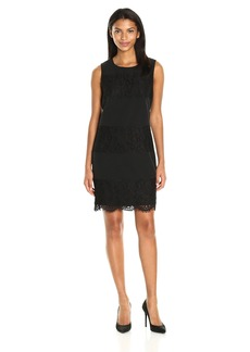 Anne Klein Women's Lace and Crepe Combo Shift Dress